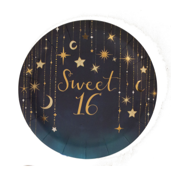 "Picture of 16th STARRY NIGHT 9"" PLATE - SWEET 16th"