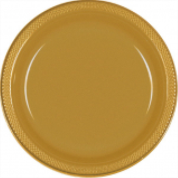 "Picture of GOLD - 7"" PLASTIC PLATE"