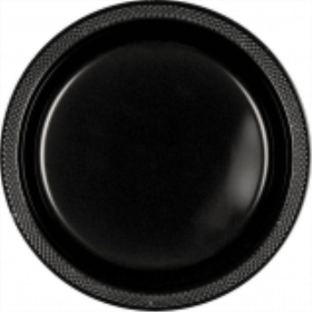 "Picture of BLACK - 10.25"" PLASTIC PLATE"