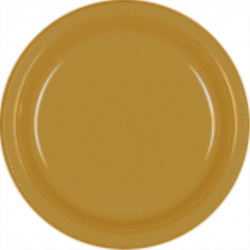 "Picture of GOLD - 10.25"" PLASTIC PLATE"