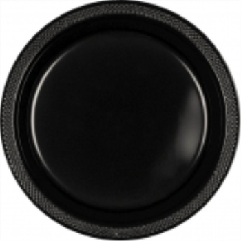 "Picture of BLACK - 7"" PLASTIC PLATE"