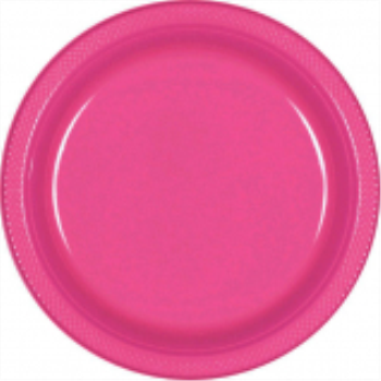 "Picture of BRIGHT PINK - 7"" PLASTIC PLATE"