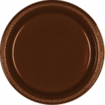 "Picture of CHOCOLATE BROWN - 7"" PLASTIC PLATE"