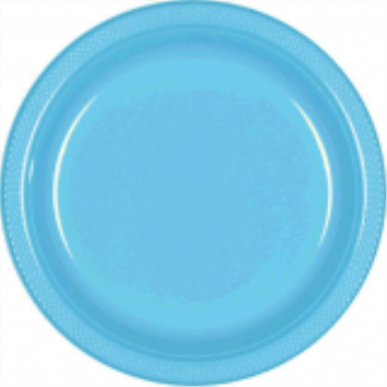 "Picture of CARIBBEAN BLUE - 7"" PLASTIC PLATE"