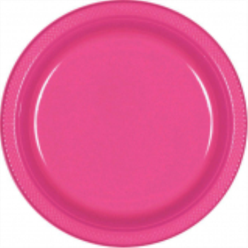 "Picture of BRIGHT PINK - 10.25"" PLASTIC PLATE"