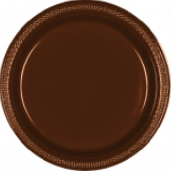 "Picture of CHOCOLATE BROWN - 10.25"" PLASTIC PLATE"
