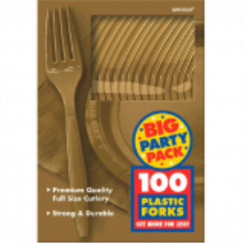 Picture of GOLD FORKS - BIG PARTY PACK