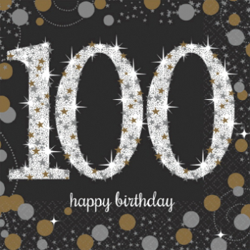 Picture of 100th - SPARKLING CELEBRATION - BEVERAGE NAPKIN