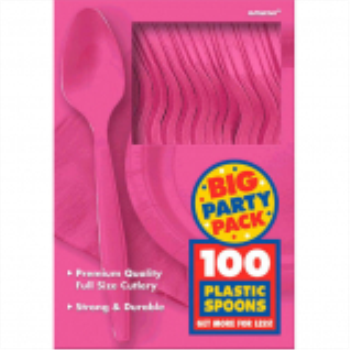 Picture of BRIGHT PINK SPOONS - BIG PARTY PACK