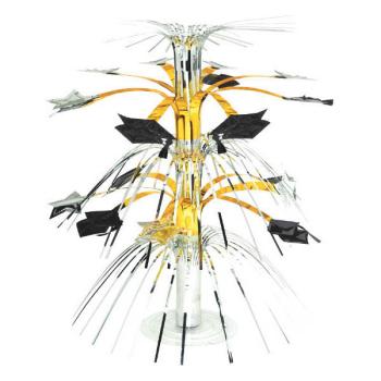 Picture of DECOR - GRAD CASCADE CENTERPIECE - GOLD/SILVER/BLACK