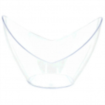 Picture of CLEAR PLASTIC MINI OVAL BOWL