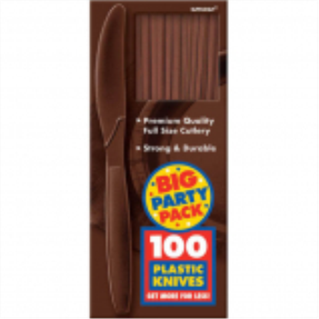 Picture of CHOCOLATE BROWN KNIVES - BIG PARTY PACK