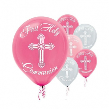 "Picture of 12"" LATEX BALLOONS - COMMUNION PINK"