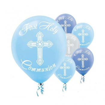 "Picture of 12"" LATEX BALLOONS - COMMUNION BLUE"