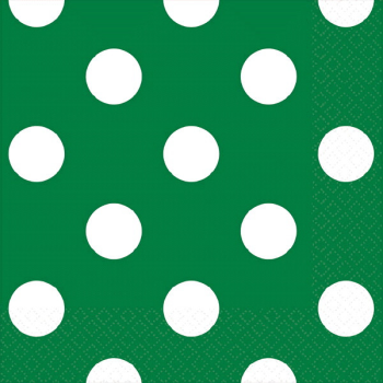 Picture of GREEN DOTS BEVERAGE NAPKIN