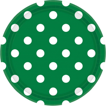 """Picture of GREEN DOTS 9"""" PLATES"""