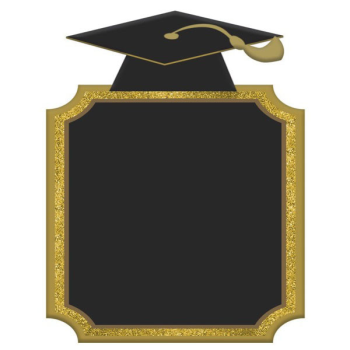 Picture of DECOR - GRAD CAP CHALKBOARD HANGING SIGN
