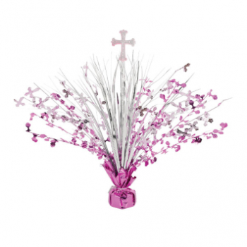 Picture of DECOR - COMMUNION DAY SPRAY CENTERPIECE - PINK
