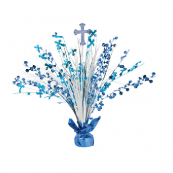 Picture of DECOR - COMMUNION DAY SPRAY CENTERPIECE - BLUE