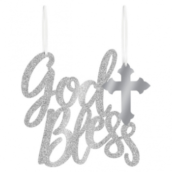 Picture of DECOR - GOD BLESS MDF HANGING SIGN