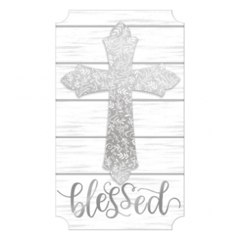 Picture of DECOR - CROSS EASEL SIGN