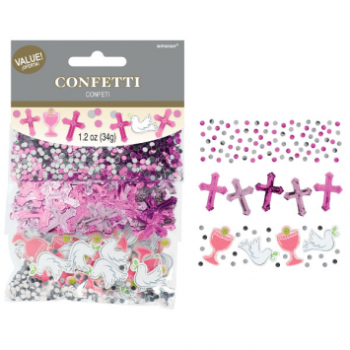Picture of DECOR - COMMUNION DAY VALUE CONFETTI PACK - PINK