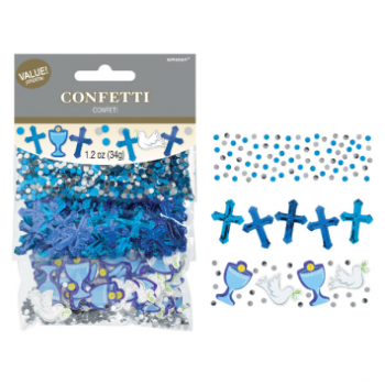 Picture of DECOR - COMMUNION DAY VALUE CONFETTI PACK - BLUE