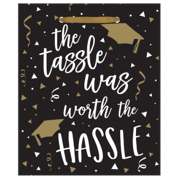 Image de DECOR - THE TASSEL WAS WORTH THE HASSLE MEDIUM GLOSSY GIFT BAG