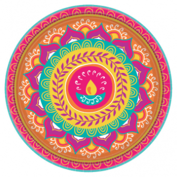 "Picture of DIWALI 10"" ROUND PLATE"