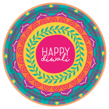 "Picture of DIWALI 7"" ROUND PLATE"