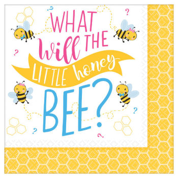 Picture of GENDER REVEAL - WHAT WILL IT BEE? LUNCHEON NAPKINS