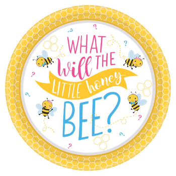 "Image de GENDER REVEAL - WHAT WILL IT BEE?  7"" PLATE"