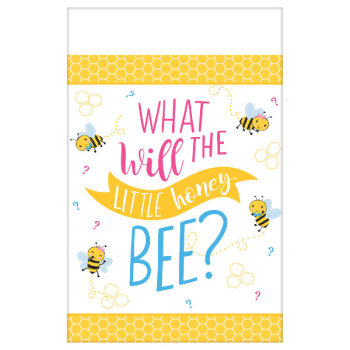 Image de GENDER REVEAL - WHAT WILL IT BEE?  PAPER TABLE COVER