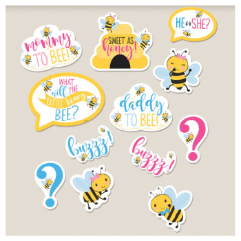 Image de GENDER REVEAL - WHAT WILL IT BEE? ASSORTED CUT OUTS