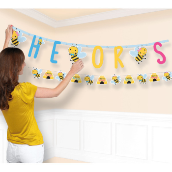 Picture of GENDER REVEAL - WHAT WILL IT BEE? JUMBO LETTER BANNER