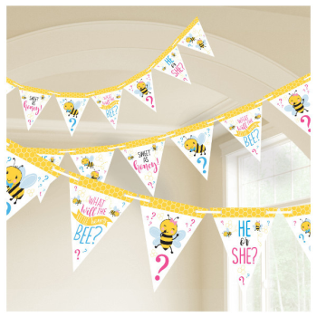 Image de GENDER REVEAL - WHAT WILL IT BEE? PENNANT BANNER