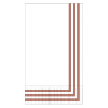 Picture of CLASSIC STIPE ROSE GOLD GUEST TOWELS