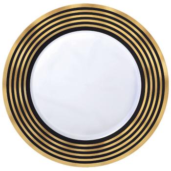 """Image de GOLD STRIPE 7.5"""" PLASTIC PLATES - 20CT"""