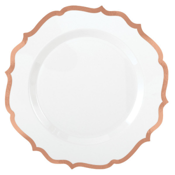 "Picture of 7"" PLATES  PREMIUM ORNATE ROSE GOLD TRIM - 20CT"