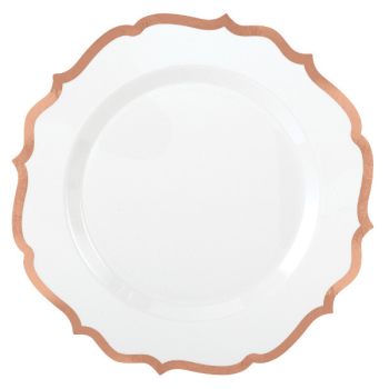 "Image de 10.5"" PLATES PREMIUM ORNATE ROSE GOLD TRIM - 10CT"