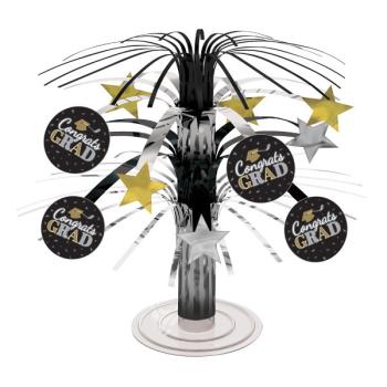 Picture of DECOR - GRAD MINI CASCADE CENTERPIECE - BLACK/GOLD/SILVER
