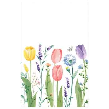 Picture of Tulip Garden Tablecover Plastic