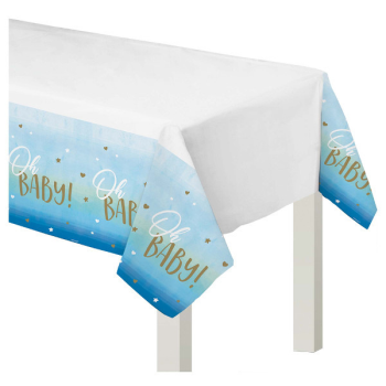 Image de OH BABY BOY PLASTIC TABLE COVER