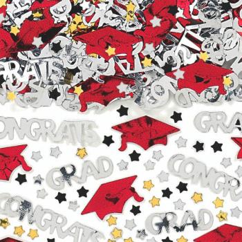 Picture of DECOR - CONGRATS GRAD CONFETTI - RED