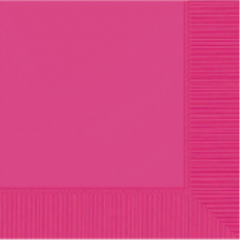 Picture of BRIGHT PINK BEVERAGE NAPKINS