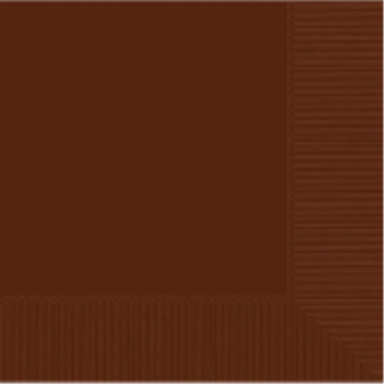 Picture of CHOCOLATE BROWN LUNCHEON NAPKINS