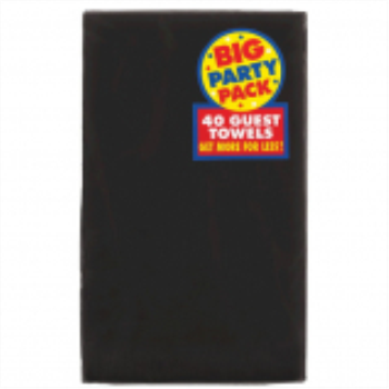Picture of BLACK GUEST TOWELS
