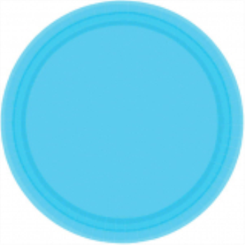 "Picture of CARIBBEAN BLUE 7"" PAPER PLATES"