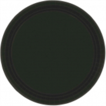 "Picture of BLACK 9"" PAPER PLATES"