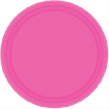 "Picture of BRIGHT PINK 9"" PAPER PLATES"